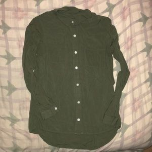 Forever 21 (Small) green button up shirt
